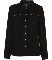 camisa le lis blanc liocel bolsos sarja preto feminina (preto, gg)
