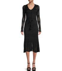 allison new york women's knit midi dress - black - size l