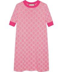 gucci gg jacquard-woven dress - pink