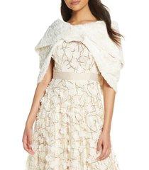 women's eliza j faux fur shawl