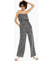 bar iii printed strapless jumpsuit, created for macy's
