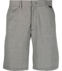 low brand micro houndstooth shorts - grey