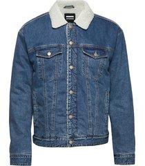 caleb sherpa jacket jeansjacka denimjacka blå dr. denim
