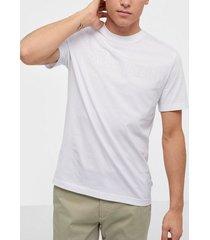 calvin klein 2-tone logo t-shirt t-shirts & linnen white