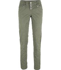 pantaloni in tessuto elasticizzato con effetto stropicciato (verde) - bpc bonprix collection