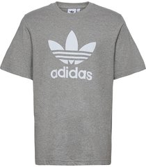adicolor classics trefoil tee t-shirts short-sleeved grå adidas originals