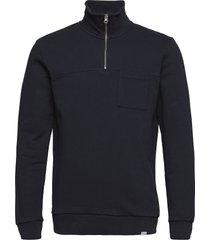 cesana halfzip sweatshirt sweat-shirt trui blauw les deux