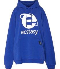 'ecstasy' graphic print hoodie
