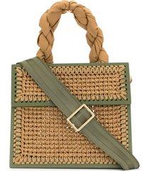 0711 camel small copacabana tote bag - green