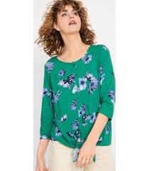 blouse met bloemenprint, 3/4 mouw