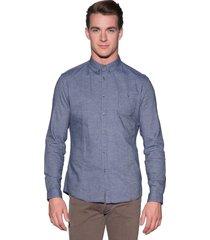 drykorn alex casual shirt met lange mouwen blauw