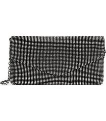 glass stone-embellished envelope clutch
