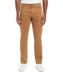 men's dl1961 russell slim straight leg jeans, size 36 x 34 - brown