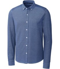 cutter & buck men's big and tall reach oxford button front long sleeves shirt