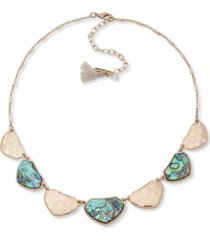 """lonna & lilly gold-tone & stone statement necklace, 16"""" + 3"""" extender"""
