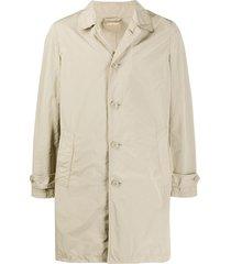 aspesi straight-fit coat - neutrals
