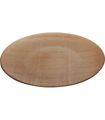 centro de mesa dunya dunya de vidro creme 35cm caramelo