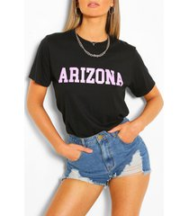 arizona collegiate t-shirt, black