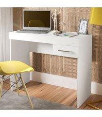 mesa escrivaninha cooler 1 gaveta branco - artely