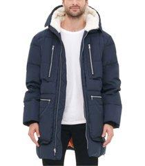 tommy hilfiger men's hooded parka jacket