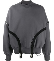val kristopher paneled sweatshirt - grey
