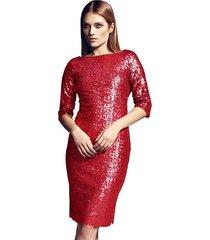 sukienka leona cekiny koral
