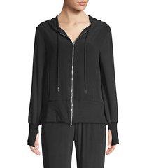tawney silk crepe hoodie