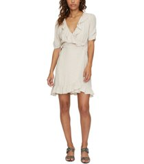 sanctuary heart throb ruffled wrap dress