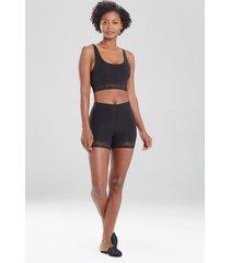 natori bliss perfection lace trim shorts, women's, size l