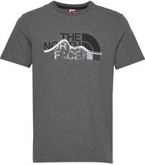 m s/s mount line tee t-shirts short-sleeved the north face