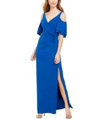 msk cold-shoulder gown