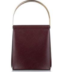 cartier trinity cage leather handbag red, bordeau sz: s