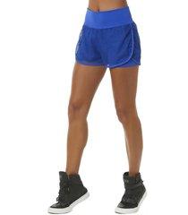 shorts doble con malla azul bro fitwear