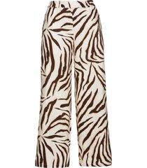 pantaloni zebrati in lino (marrone) - bpc selection premium