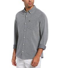 original penguin men's slim-fit birdseye shirt