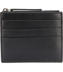 ann demeulemeester slim leather card holder - black