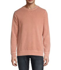threads 4 thought men's mineral wash long-sleeve sweatshirt - rose - size l