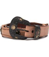 jessie western concho-embellished belt - brown
