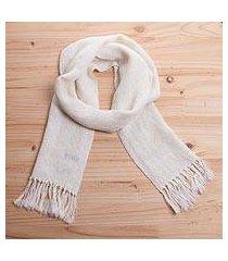 100% alpaca scarf, 'classic cream' (peru)