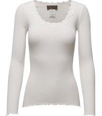 silk t-shirt regular ls w/rev vinta t-shirts & tops long-sleeved wit rosemunde
