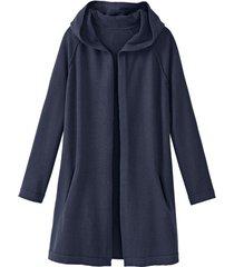 lichte, gebreide jas met bio-merinowol, nachtblauw 36/38