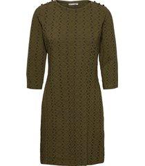 frmevar 1 dress knälång klänning grön fransa