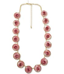 """inc gold-tone red crystal station all around necklace, 19"""" + 3"""" extender, created for macy's"""