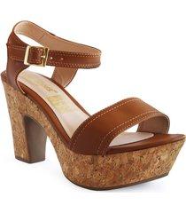 calzado dama tacon 7 1/2 miel 182485miel mujer