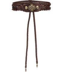 etro western wrap belt - brown