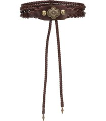 etro western wrap belt - brown