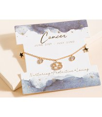 women's cancer charm bracelet by francesca's - size: one size