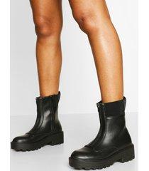wandellaarzen met rits, zwart