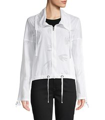 perforated zip jacket
