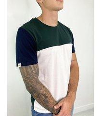 camisetas de hombre - bloques verde - dts3004